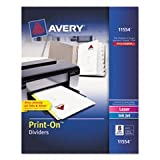 Print-On Dividers, 8-Tab, 3-Hole Punched, 8-1/2 X 11, White, 25 Sets/pack By: Avery