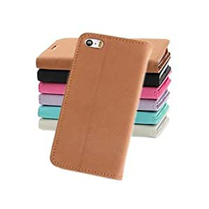 GJY Fashion Wallet Style PU Leather Full Body Case with Stand and Card Slot for iPhone 4/4S (Assorted Colors) , Blue