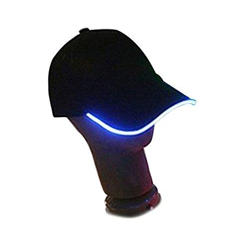 - Glovion Fashion LED Light Up Baseball Hat Glow Party Cap Blue