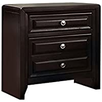 Furniture of America Melbourne 2-Drawer Nightstand, Espresso Finish