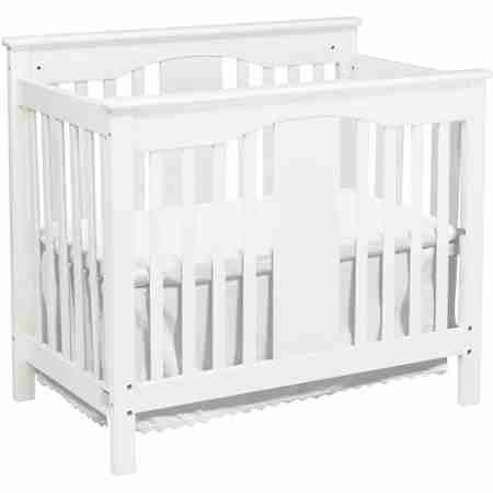 Da Vinci Systems Annabelle 2-in-1 Mini White Finish Crib