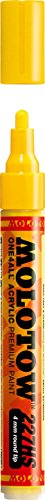 Molotow ONE4ALL Acrylic Paint Marker, 4mm, Zinc Yellow, 1 Each (227.201)