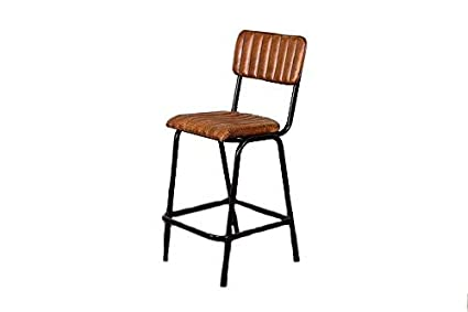 Sensational Peppermill Vintage Style Tan Ribbed Leather Breakfast Bar Pdpeps Interior Chair Design Pdpepsorg