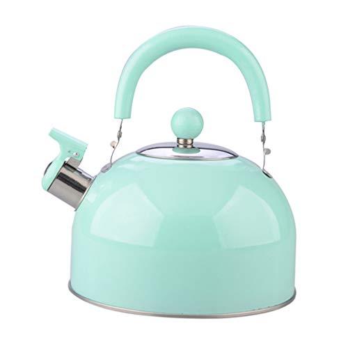 UPKOCH Silbato tetera de acero inoxidable teteras de cocina estufa luna mango tetera engrosamiento calentador de agua para el hogar (color aleatorio)