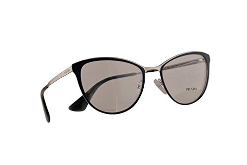 Prada VPR 55T Eyeglasses 52-18-140 Blue Silver w/Demo Clear Lens U6R1O1 PR 55TV PR55TV ()