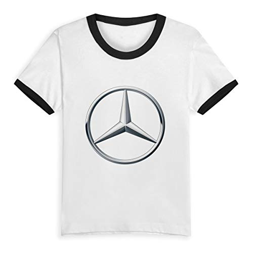 Syins Girl Designed T Shirt \r\n Mercedes Benz Logo Summer Short Sleeve Tshirts Black 4T