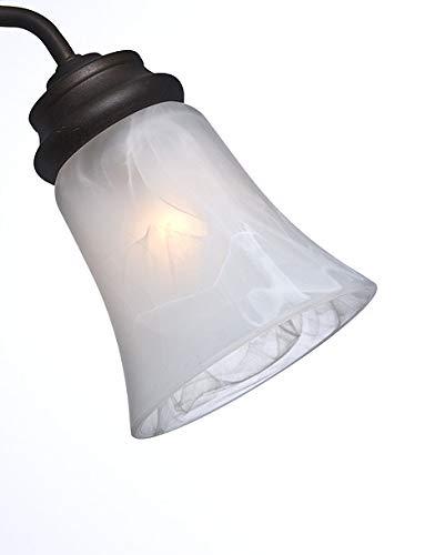 Casablanca Fan Company 99037, Bell Shaped Swirled Marble Fitter Glass
