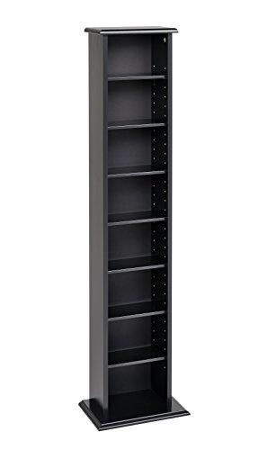 Prepac Slim Multimedia Tower Storage Cabinet, Black