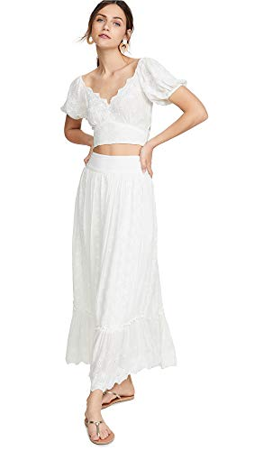 - Free People Women's Ella Shirt & Skirt Set, Ivory, White, Off White, Medium