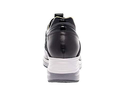 4used3 Paciotti 4us Pelle Cesare Nero Sneakers Donna gIZdwxqw