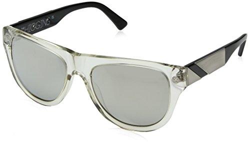 100% Adult Higgins Sunglasses, Clear/Brush Aluminum, One - Sunglasses Superbike
