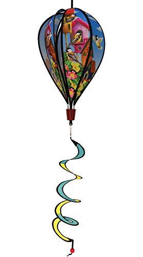 In the Breeze Chickadee Birdhouse 6-Panel Kinetic Hot Air Balloon Wind (Panel Pennants)