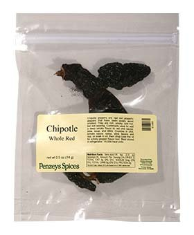 Chipotle Peppers Whole By Penzeys Spices 1/2 oz bag