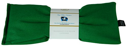 - Migraine, Stress & Anxiety Relief - #1 Stress Relief Gifts For Women - Made In The USA,, Organic Flax Seed Filled! ON SALE! (Emerald Green - Organic Cotton) (Bean Silk)