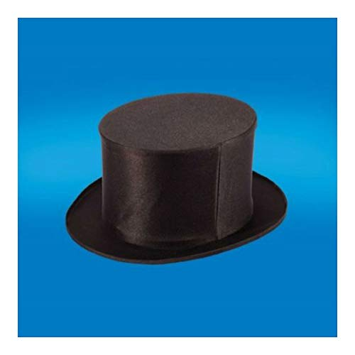 Adult Black Folding Collapsible TOP HAT Dancers Magic Magicians Costume HAT- Large -