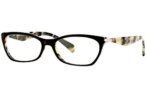 top black/white havana prada pr15pv eyeglasses