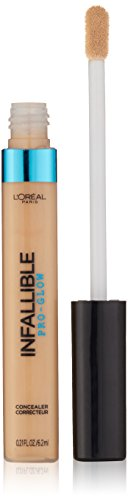Loreal Infallible Creamy - L'Oreal Paris Cosmetics Infallible Pro Glow Concealer, Creamy Natural, 0.21 Fluid Ounce
