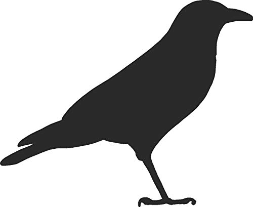 hBARSCI Crow Vinyl Decal - 5 Inches - for Cars, Trucks, Windows, Laptops, Tablets, Outdoor-Grade 2.5mil Thick Vinyl - Matte Black