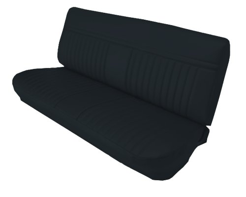 Bench Seat Upholstery (Acme U1003-2295 Front Black Vinyl Bench Seat Upholstery with Pleated)
