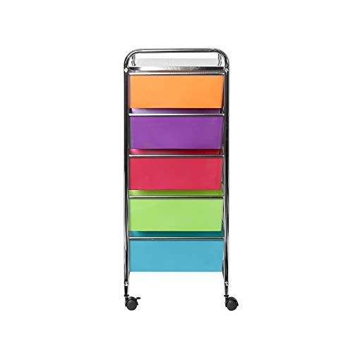 Seville Classics 15-Drawer Organizer Cart Pearlescent Multi-Color by Seville Classics (Image #8)