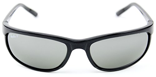 Ray-Ban RB2027 601/W1 PREDATOR 2 Sunglasses Black /Crystal Polarized Mirror Grey Lens.