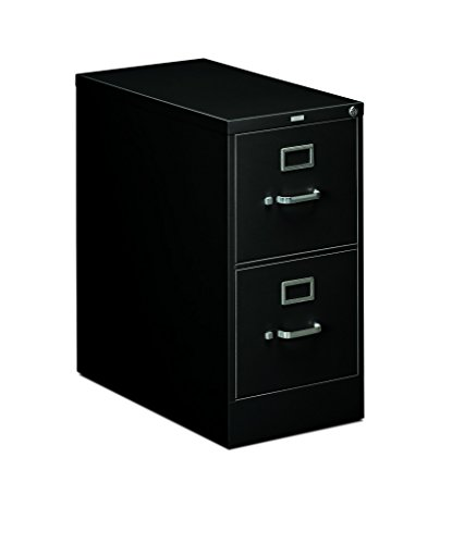 HON 2-Drawer Office Filing Cabinet - 310 Series Full-Suspension Letter File Cabinet, 26.5''D, Black (H312) by HON
