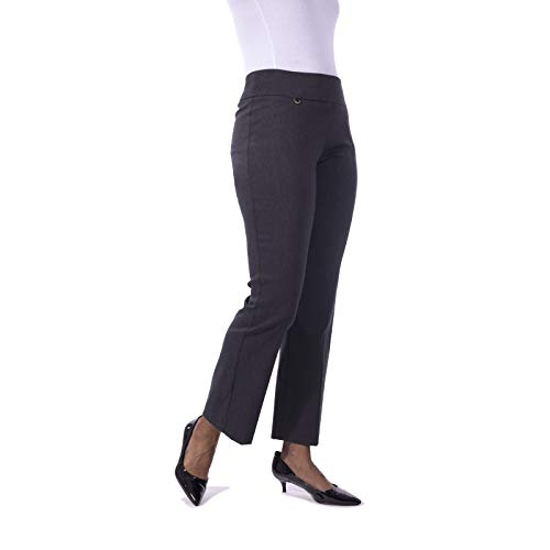 Fundamental Things Women's Plus Size Tummy Control w/D-Ring Pull-On Pant Black