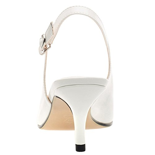 col punta tacco chiusa Bianco Donna Scarpe EKS 5xBgO