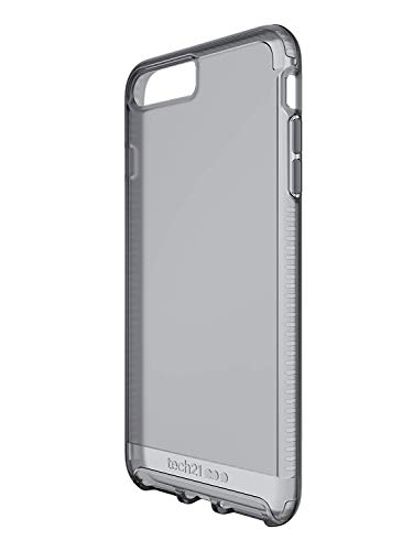 tech21 - Impact Clear - Phone Case Protection for iPhone 8 Plus/iPhone 7 Plus - Clear/Smokey