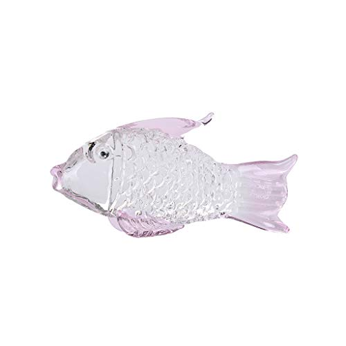 Meidexian888 Crystal Goldfish Wedding Decor Paperweight Figurine Gift Crafts Home Festive Party Decor (Pink)