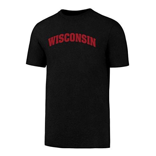 Wisconsin Badgers Soft Football - NCAA Wisconsin Badgers Men's OTS Rival Tee, Jet Black, Large