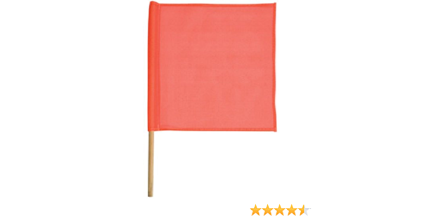 Safety Flag SFKV18-36 18-Inch Mesh Safety Flags with Dowel Red//Orange