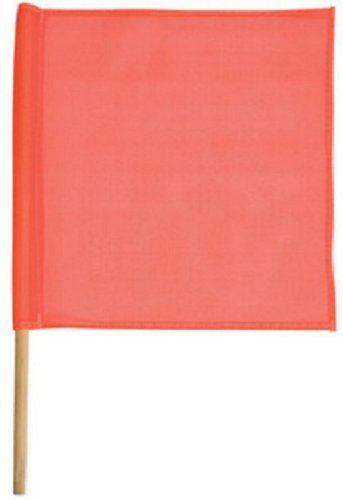 Safety Flag Sfkv18 30 18 Inch Mesh Safety Flags, With Dowel Red/Orange by Safety Flag