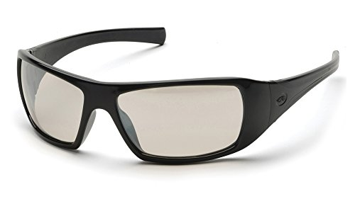 Pyramex Goliath Safety Eyewear, Black Frame, Indoor/Outdoor Mirror Lens
