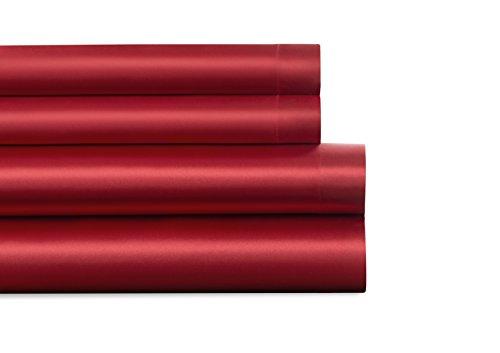 Satin Super Soft Sheet Sets, Queen, Red ()