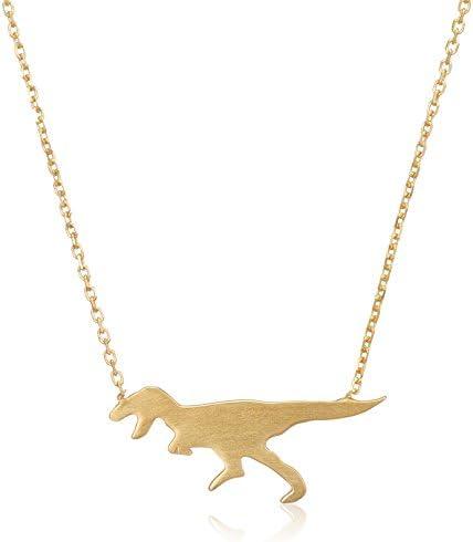 シルバー イエローゴールド ティラノサウルス ネックレス BSPYB0010040