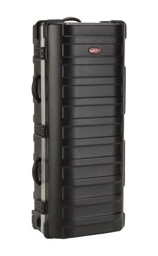 SKB ATA XL Stand Case (49-1/2 x 20-1/4 x 13-1/2) with Wheels and Straps, TSA Latches, Over-Molded Handle by SKB