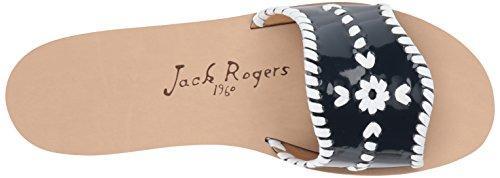 Mujer Medianoche Planas Sandalias Rogers blanco para Slide Jack Sanibel Wq4FP0Y