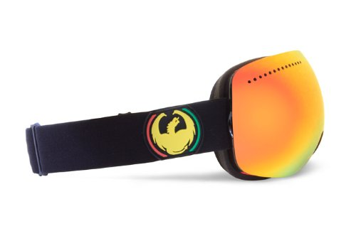 Dragon Alliance APX Rasta Goggles (Black, Red Ion/Yellow Blue Ion), Outdoor Stuffs