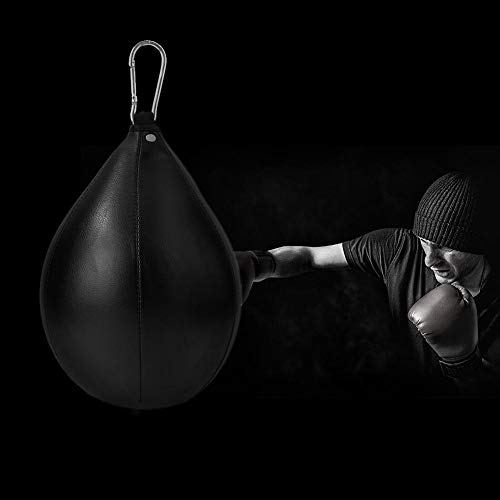 goodbene 1pc Boxing Pear Shape PU Speed Ball Swivel Punch Bag Punching Exercise Speedball Speed Bag Punch Fitness Training Ball
