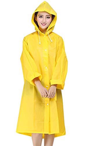 Des Avec De Imperméable Capuche Unie Veste Couleur Cordon Manteau Mode Gelb Casual À Dame Pluie Extérieure Femmes Tranchée 4xH4XUn