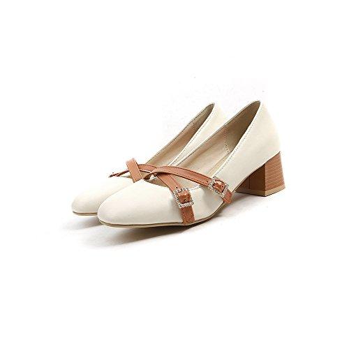 Tête Talons Femmes MEI Bouche carré Apricot Peu Chaussures Profond Bloc LSM amp;S TS8qwHdx
