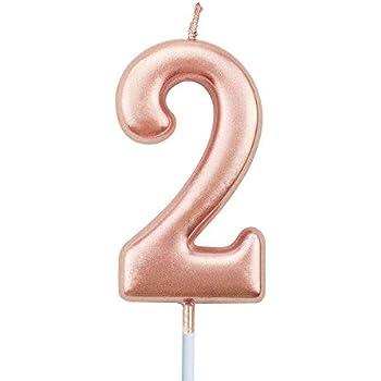 Amazon.com: Magjuche - Vela de cumpleaños número 25, color ...