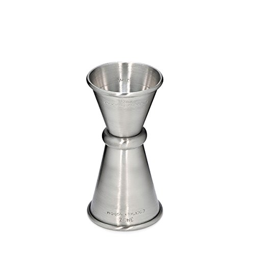 Cocktail Kingdom Japanese Style Jigger 3/4 oz and 1/2 oz measure – Stainless Steel