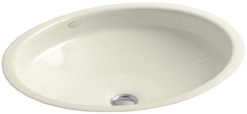 KOHLER K-2874-47 Canvas Cast Iron Bathroom Sink, Almond by Kohler