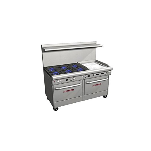 (Southbend 4601DD-2GR Ultimate Natural Gas 6-Burner Range with Griddle)