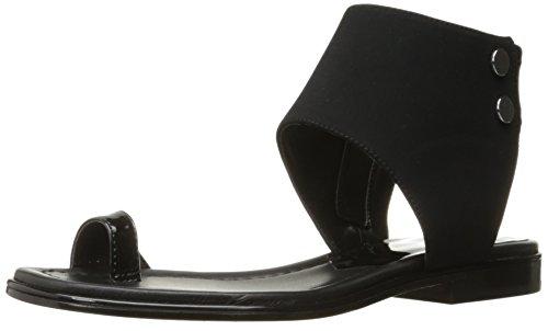 Donald J Pliner Women's Lorel Toe Ring Sandal, Black, 6 M US