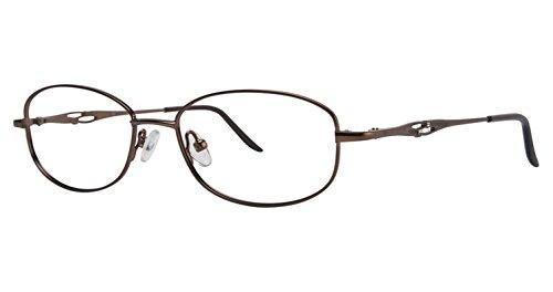 LAmy C by L'Amy 508 Eyeglass Frames - Frame Brown, Size -