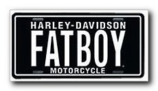 Harley Davidson FATBOY License Plate - #1863 by - Davidson Boy Fat Harley