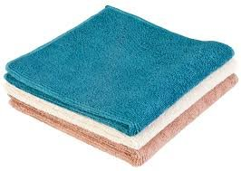 Norwex Antibacterical, Antimicrobial, Microfiber Bath & Hand Towels (Vintage Trio, 3 Wash Cloths)